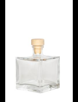 Tuščias kubo formos buteliukas