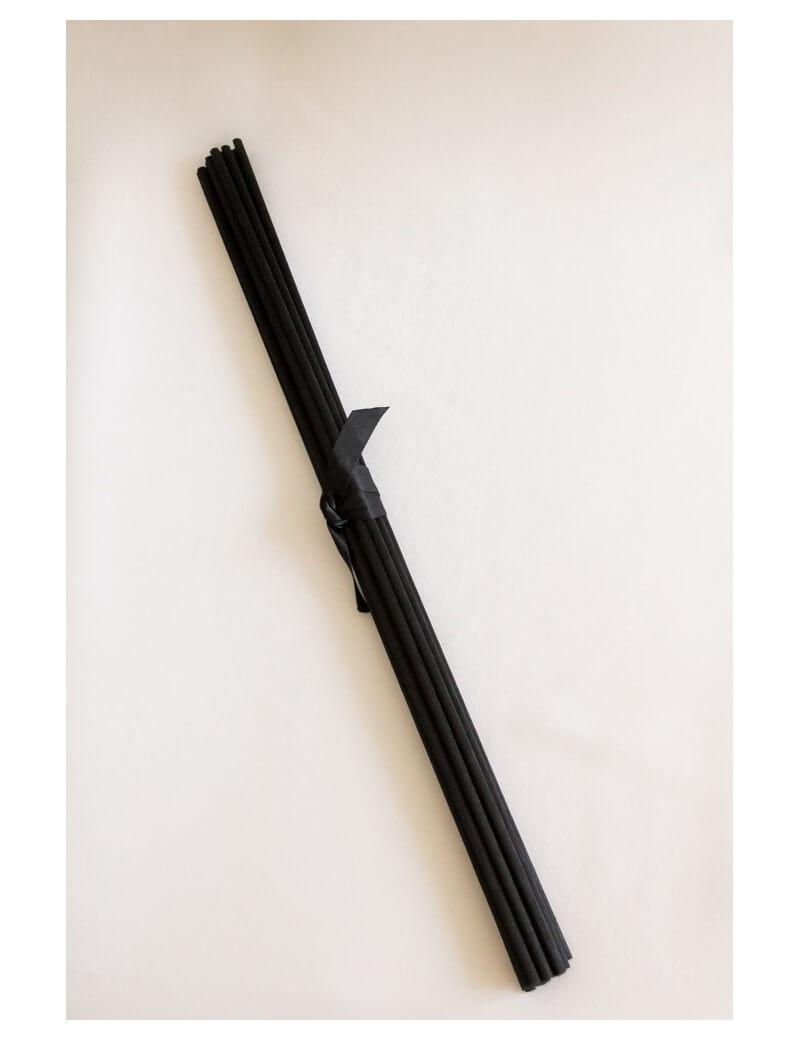 Juodos ilgos daugiapluoštės lazdelės 27.5 cm , 18 vnt