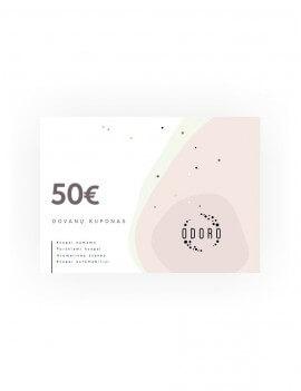 50 EUR vertės elektroninis  dovanų kuponas