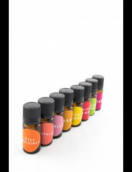 8 pasirinktų kvapų mėginėliai