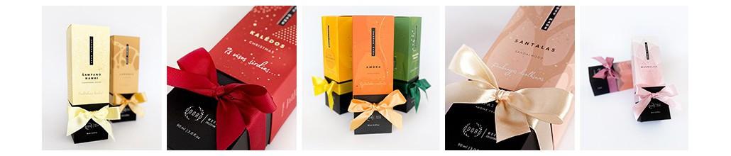 Kvapai namams su lazdelėmis, dovanai, dovanų įpakavimai | ODORO.lt