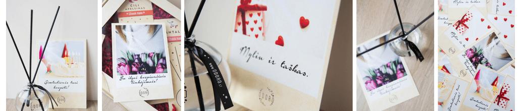 Kvapai namams su lazdelėmis, žvakės, dovanai, atvirukas| ODORO.lt
